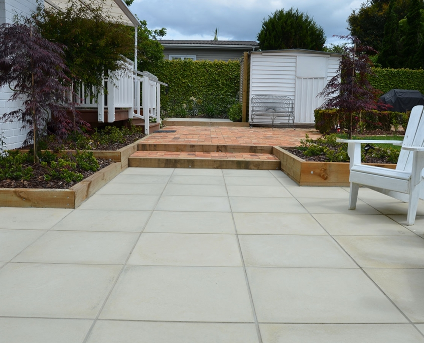 image of some paving and garden walls